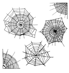 Different Spider Web Set vector image vector image