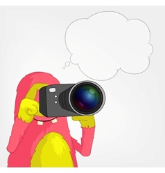 Funny Monster Photographer vector image vector image