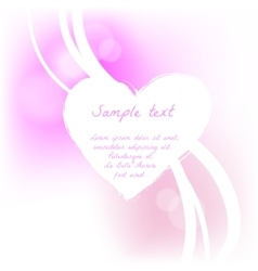 Grunge valentine card with hand drawn text vector image vector image