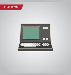 Isolated vintage computing flat icon technology vector