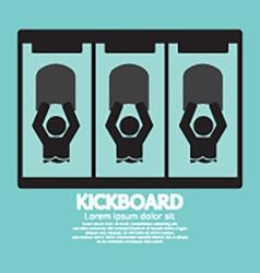 Kick board black symbol vector