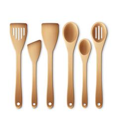 kitchen utensil set vector image vector image