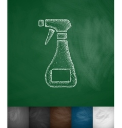 Means for cleaning icon vector