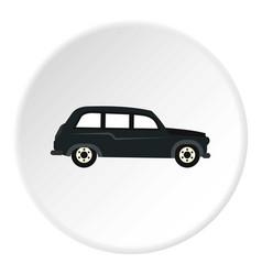 Retro car icon circle vector