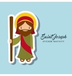 Saint joseph sticker vector