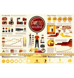 Set of Photographer work Infographic elements with vector image vector image