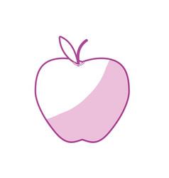 Silhouette delicious apple fresh fruit nutrition vector