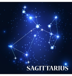 Symbol sagittarius zodiac sing vector