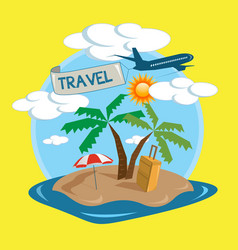 travel tropical island design vector image vector image