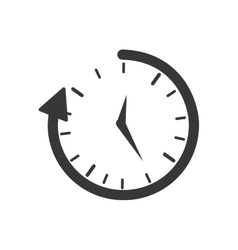Clock traditional time instrument icon vector