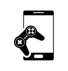 Modern cellphone and game controller icon vector