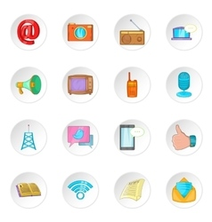 Advertisement icons cartoon style vector