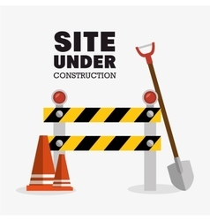 Tools site under construction design vector