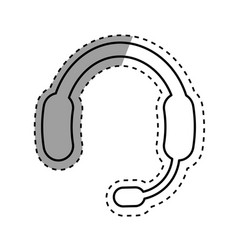 call center headset device vector image