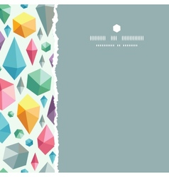 Hanging geometric shapes square torn seamless vector