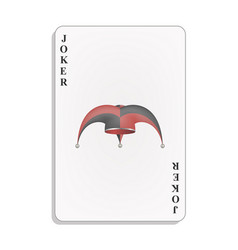playing card with joker hat vector image