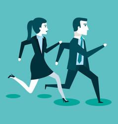Corporate active competition business people on vector