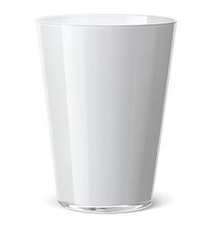 Milk glass vector image