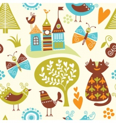 fairytale pattern vector image