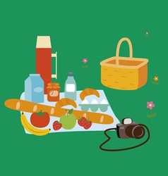 Summer picnic vector