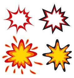 Comic speech bubbles in pop art style vector image