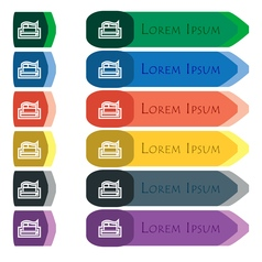 Newspaper icon sign set of colorful bright long vector