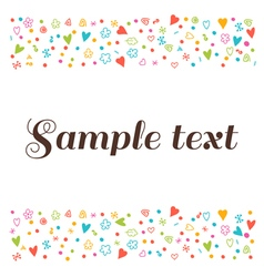 Cute postcard with floral design elements Cute vector image