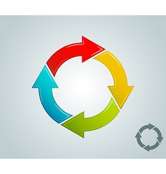Different colors arrow infographics cycle vector