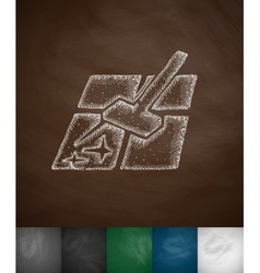 mopping icon vector image