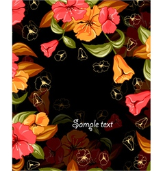 spring colorful floral background vector image