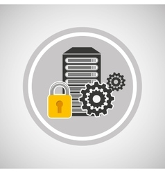 Pc security icon vector