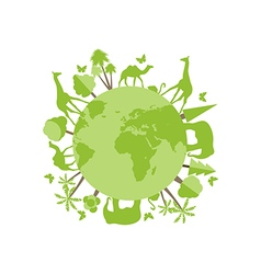 Animals on the planet animal vector