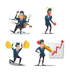 businessman at work business planning vector image
