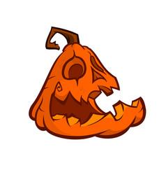 cartoon image of jack o lantern vector image vector image