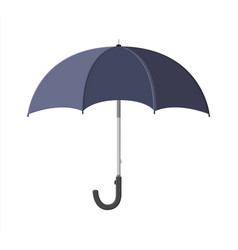 classic opened black umbrella personal accessory vector image vector image