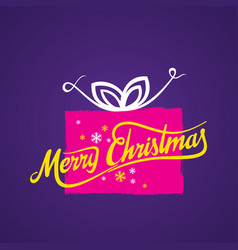 creative merry christmas greeting vector image vector image