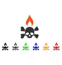 Death ignition icon vector