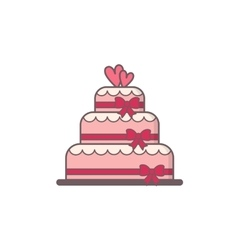 Decorated wedding cake vector image