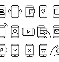 Different variations of holding a modern smartphon vector image