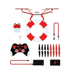 Drone quadcopter vector image vector image