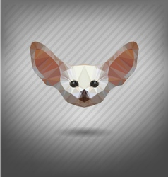 Fennec fox in the style of origami abstract vector image