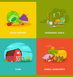 gardener spaces concept set cartoon style vector image