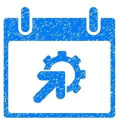 Gear integration calendar day grainy texture icon vector