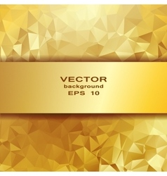 Gold crystal abstract pattern Business Design vector image