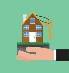 Home buying conceptual vector