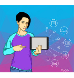 internet addicted people concept of vector image vector image