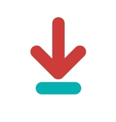 Isolated download arrow design vector