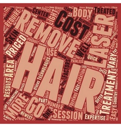 Laser hair removal main factors text background vector
