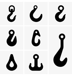 Lifting hooks vector image vector image