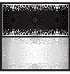 Luxury silver gift certificate in vintage style vector